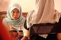 Malaysia. Langkawi. Muslim girls