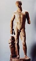 c. Kunst - Antike, Römisches Reich, Skulptur,  Statue ´Siegreicher Faustkämpfer´, Marmor, Mitte 1. Jh.v.Chr., Museo Archeologico Nazionale, Neapel   S...