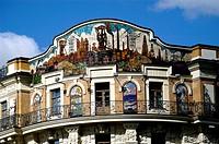 Geo., Russland, Moskau, Gastronomie,  Hotels, Hotel ´National´, Aussenansicht, Detail Fassade, Malerei,
