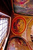 Frescos by Delacroix in St. Sulpice church. Paris. France