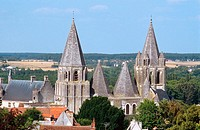 Saint Ours´ church. Loches. Val-de-Loire, France