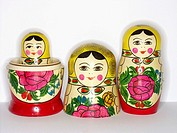Matrioshka, russian wooden dolls