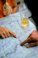Mapping the route with a drink