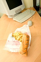 Unhealthy food on desk