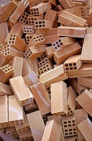 Pile of bricks or heap of bricks