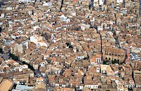 Spain. Comunidad Valenciana. Valencia Province. Aerial view of Requena