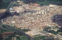 Spain. Comunidad Valenciana. Valencia Province. Aerial view of Alzira