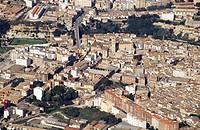Spain. Comunidad Valenciana. Valencia Province. Aerial view of Ontinyent
