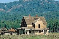 Schmidt Place Homestead, Big Summit Prairie. Ochoco National Forest. Oregon. USA