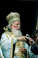 Romania. Bucharest. Orthodox patriarch.