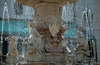 neptune fountain details, trento, italy