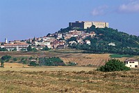 small town view, lagopesole, italy