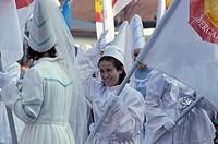 half lent carnival parade, bergamo, italy
