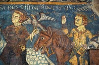 fresco ao vezzolano abbey, albugnano, italy