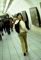 woman, underground