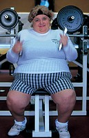 fat woman in gym