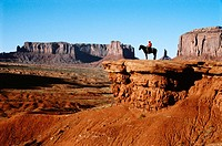 Horse of Raider. John Ford's Point. Monument Valley. Arizona. USA