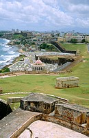 Cemetery and La Perla from El Morro fortress. Old San Juan. Puerto Rico