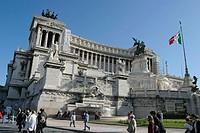 Monument to Vittorio Emanuele II in Venezia Square. Roma. Italy