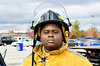 Portrait of a black male firefighter