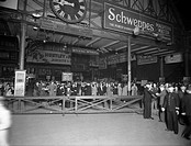 Crowds at Paddington Station, 7 August 1943, at 8.50 am.   The passengers were going out for the day as it was Bank Holiday. During the war taking a h...