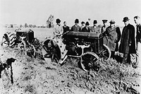 Northcliffe (1865-1922), chairman of the British War Mission, was sent to the USA to find tractors to help Britain's farmers produce more food during ...