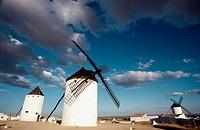 Windmills, Sierra de La Paz (or Sierra de Los Molinos). Campo de Criptana. Ciudad Real province, La Mancha. Spain