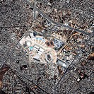 Olympic Sports Complex, Athens 2004. Satellite view of the Olympic Sports Complex of the 23rd Modern Olympic Games held on the 13-29 August 2004. The ...