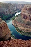 High angle view of Horseshoe Bend, Colorado River, Arizona, USA (thumbnail)