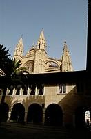 Gothic cathedral of Palma de Mallorca. Majorca. Balearic Islands. Spain