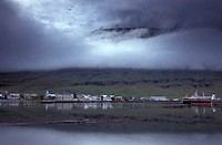Coast, Seydisfjordur, Iceland, Europe, village, mountains, sea, ship