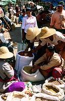 Market at Kalaw. Shan State. Myanmar.