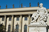Statue of Alexander von Humboldt, Humboldt University. Berlin, Germany