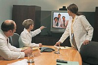 Medical professionals at videoconference