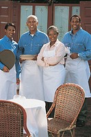Restaurant employees, portrait