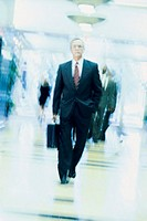 Businessman, blurred