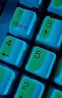 Close up of computer keyboard ´Home´ key