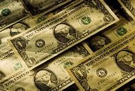 US currency, dollar bills