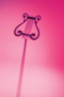 Silhouette of a music stand