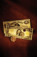 Antique US currency