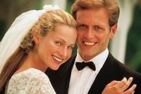 Bride and groom, portrait