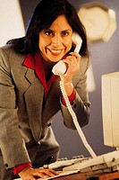 Businesswoman on phone, portrait