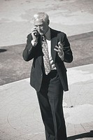 Business professional on cell phone