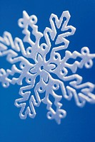 Snowflake ornament close up