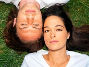 Young couple resting on grass (thumbnail)