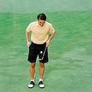 Male golfer on green