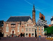 The square of Haarlem, City hall. The Netherlands