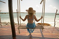 Woman on Swing Tulum Mexico