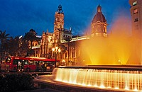 City Hall square. Valencia. Spain