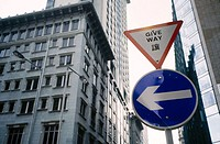 Give Way. Hong Kong. China